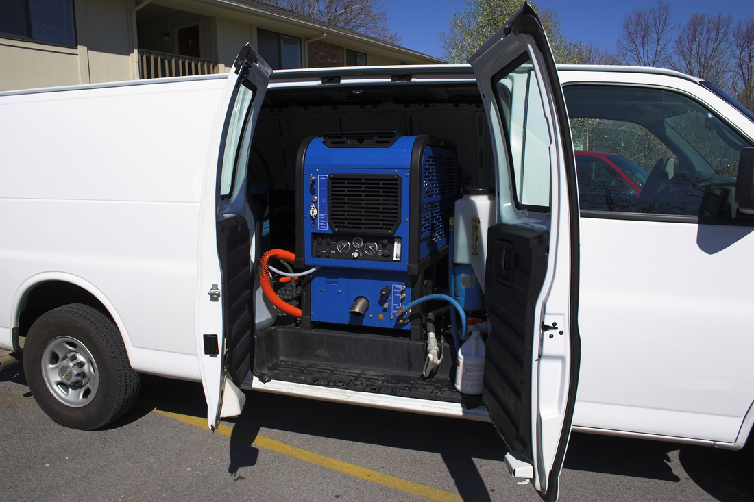 Carpet Cleaning with Truck Mounted equipment